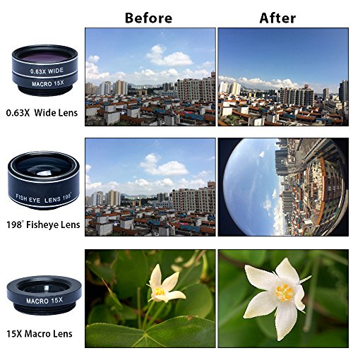 FunLens 5 in 1 Universal Clip On Cell Phone Camera Lens Kit for iPhone 8/7 / 6/5, Samsung S7/S7 Edge & Most Smartphones by FunLens (Image #3)