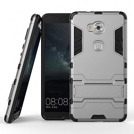 Funda para Huawei Honor 5X (5,5 Pulgadas) 2 en 1 Híbrida Rugged Armor Case Choque Absorción Protección Dual Layer Bumper Carcasa con pata de Cabra ...