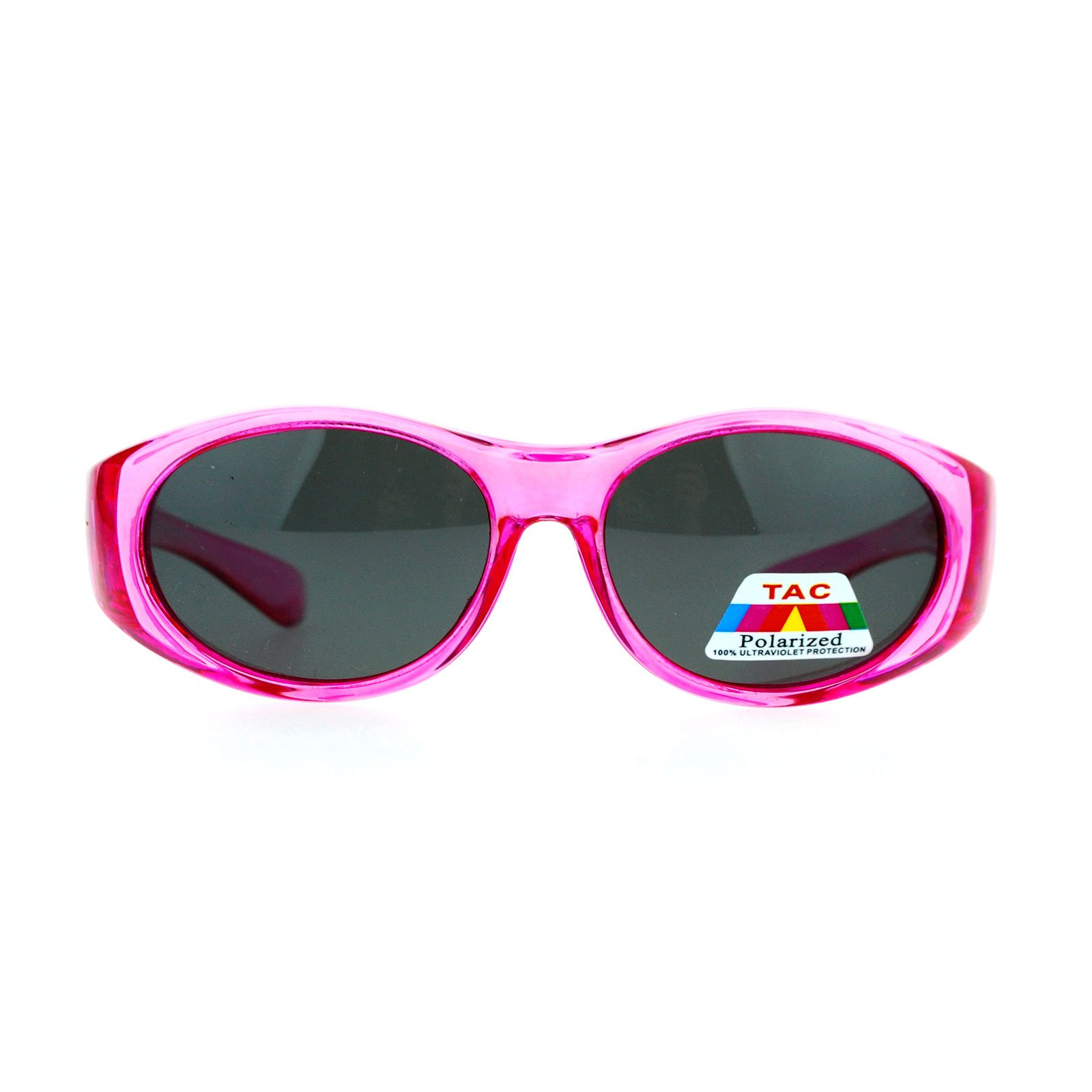 SA106 Kids Size 47mm Fit Over OTG Polarized Sunglasses Pink