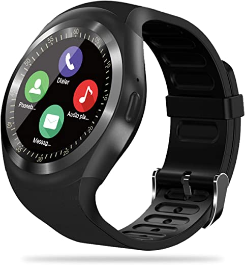 FENHOO Smartwatch, Orologio Fitness Tracker per Donna Uomo Bambini con Slot per Scheda SIM, Sportivo Activity Tracker con Chiamata Contapassi Notifiche Messaggi Orologio Sportivo per Android (Nero)