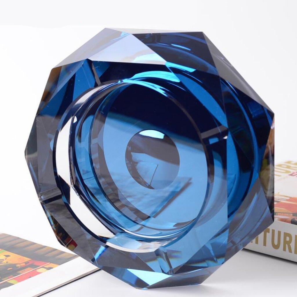 Xuan worth having ブルースターアニスガラス灰皿クリスタル灰皿クリエイティブファッションリビングルームの装飾 (サイズ さいず : 18*18*4cm) B07D5TB92N 18*18*4cm 18*18*4cm