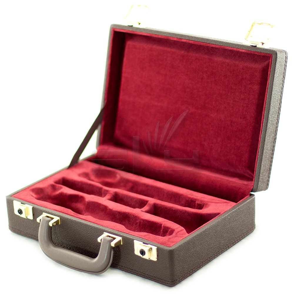 Sky CLHC501 Premium Bb Clarinet Case Brown Imitation Leather Exterior with Red Lining Interior