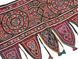 Vintage Rare Embroidered Valance Ethnic Decorative Living Room Window Door Toran ~ 37 Inch X 18 Inch