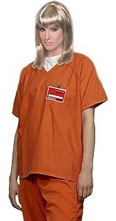 Amazon.com: Plus Size Orange Prisoner Jumpsuit Costume, 46 to 52 ...