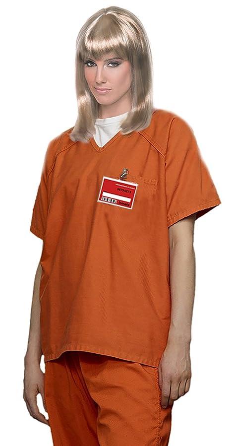 Women's Orange Scrub Set Prisoner Costume