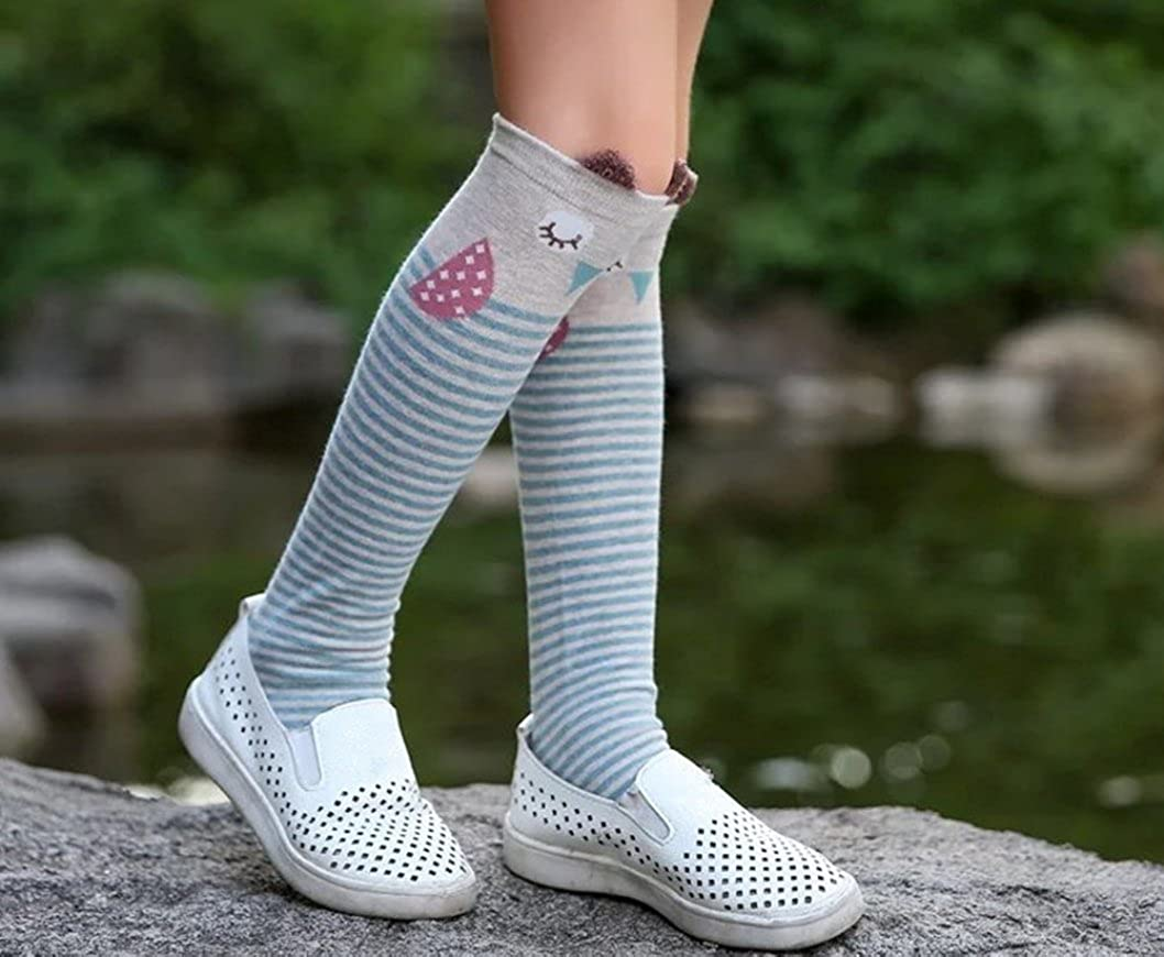 QandSweet Little Girls Knee High Socks Cute Animal Thigh High Stockings 15 Inch 2-5T