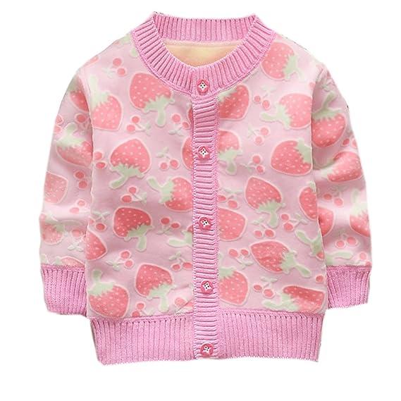 ESHOO Bebé niñas niños chaqueta paño grueso y suave caliente géneros de punto: Amazon.es: Ropa y accesorios