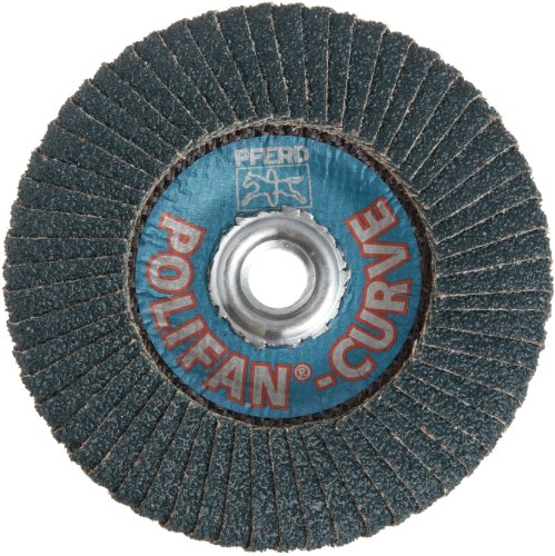 PFERD Polifan PSF Abrasive Flap Disc, Radial Shape, Threaded Hole, Phenolic Resin Backing, Zirconia Alumina, 5 Dia., 40 Grit (Pack of 1)