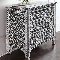 Floral Bone Inlay Sideboard Handmade Designers Inlay Furniture
