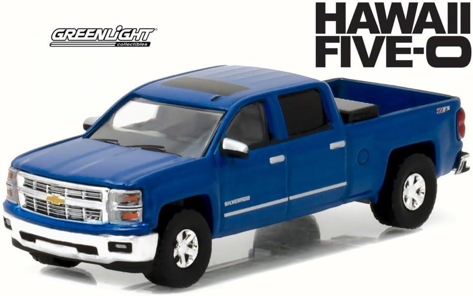 "5/"" Kinsmart 2014 Chevrolet Silverado Truck Diecast Model Toy 1:46 Chevy BLUE"
