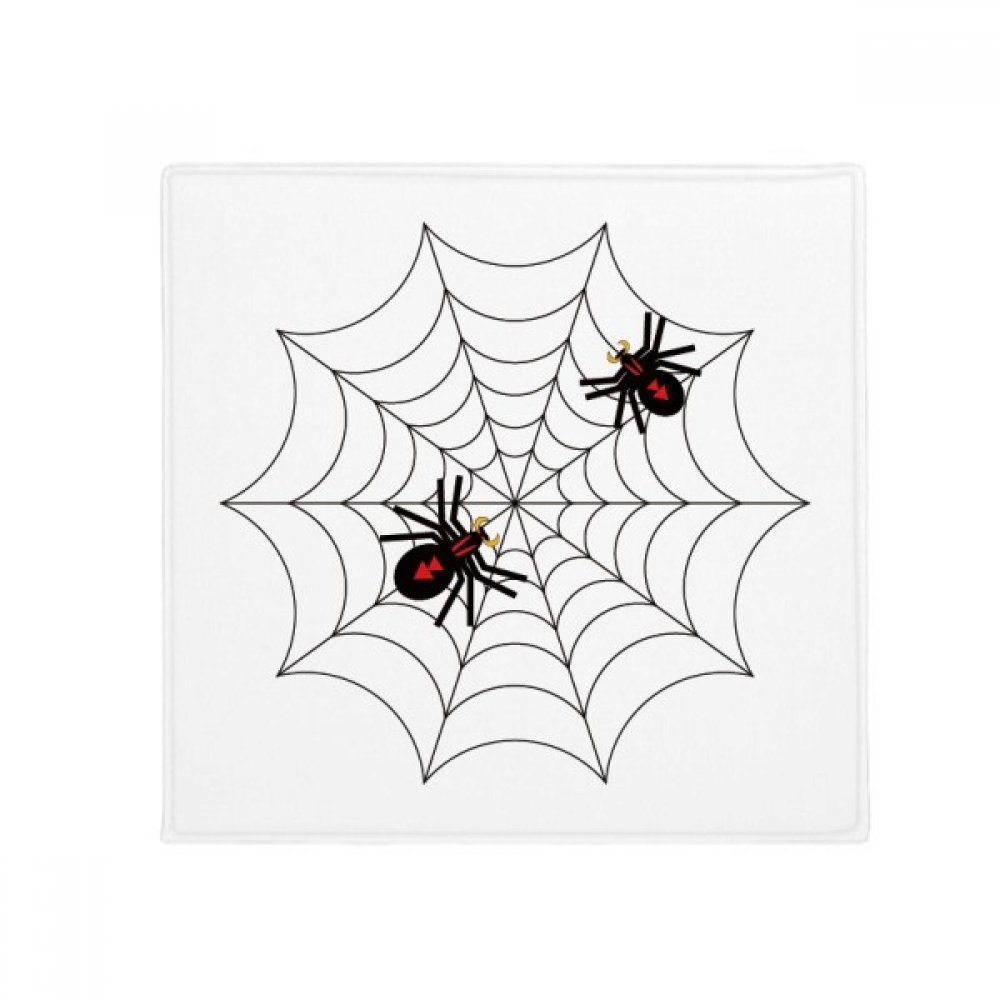 DIYthinker Insect Spider Black Cobweb Illustration Anti-Slip Floor Pet Mat Square Home Kitchen Door 80Cm Gift