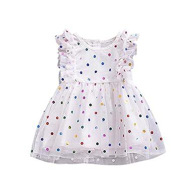 4fc0195de1d1 Girls Dresses,Haoricu Hot Sale Baby Girls Ruffles Sleeve Sequins Gauze Dress  Summer Party Dress
