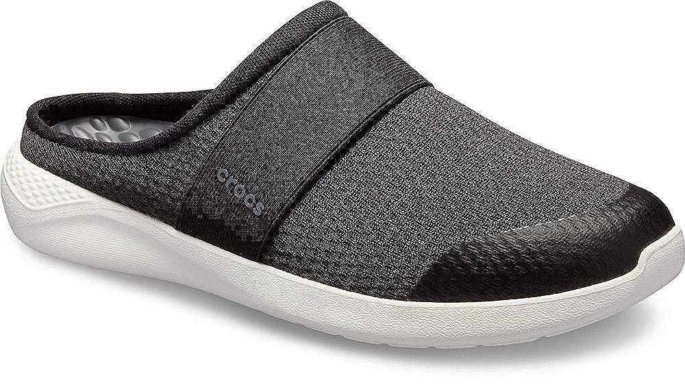 Schwarz(schwarz Weiß 066b) crocs Herren Literide Mesh Mule M Clogs, Weißszlig; Schwarz