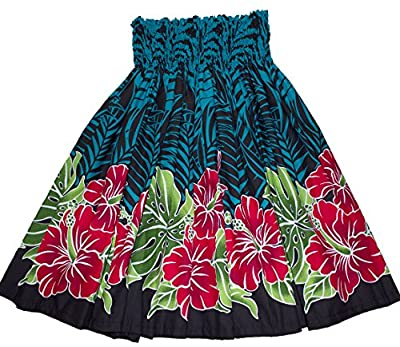 Colors of Rainbow Hawaiian Pa'u Hula Skirt Hawaii Print Flower for Womens