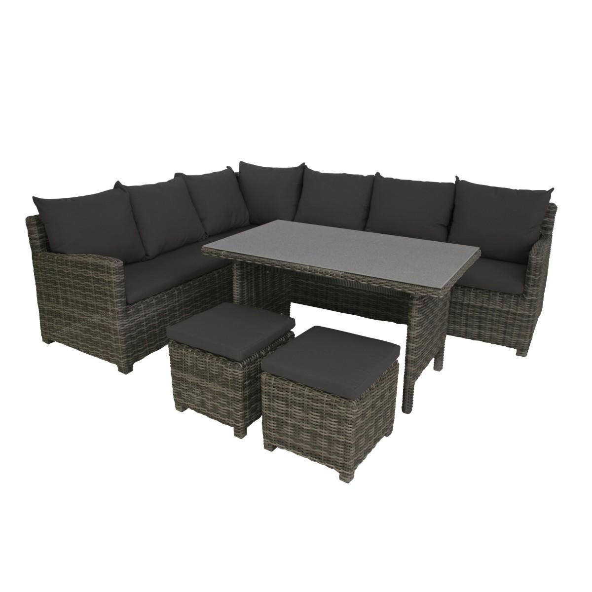 greemotion lounge set miami mehrfarbig 208x88x77cm g nstig kaufen. Black Bedroom Furniture Sets. Home Design Ideas