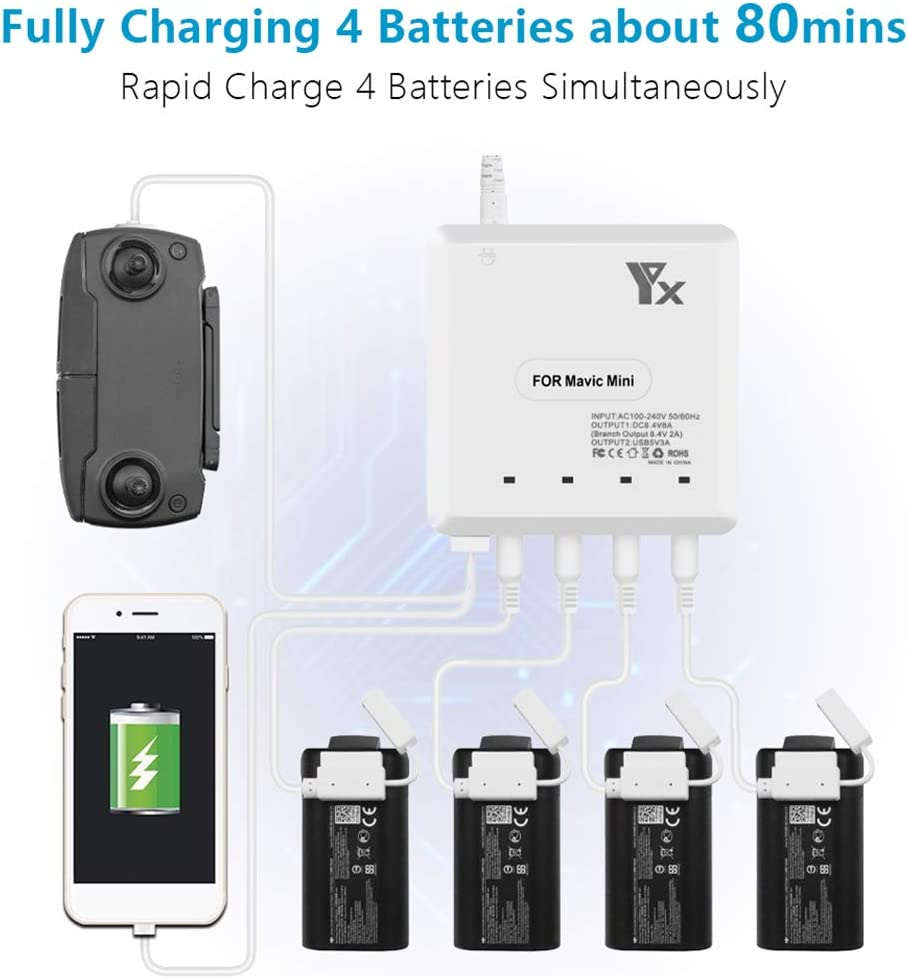 Matedepreso RC Drone Battery Charger 6 in 1 Rapid Intelligent ...