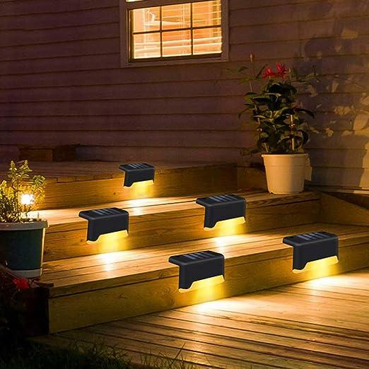Mobestech 2 Piezas Luces de Cubierta Solar Luces de Pared de Paso Solar Led Al Aire Libre Luces de Escalera Impermeables Luces para Jardín Patio Patio Camino: Amazon.es: Iluminación