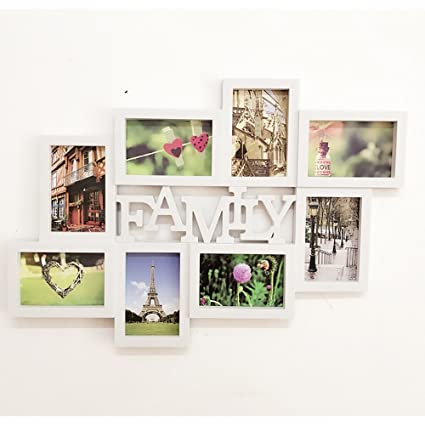Amazon.com - Photo wall family & love letters 8 multi-frame 6 inch ...