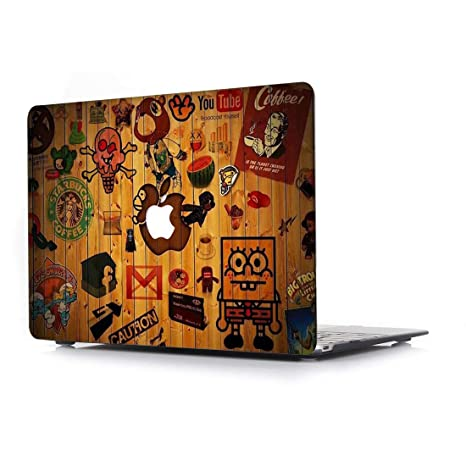 RQTX Funda Apple MacBook Air 13,3 Pulgadas Modelo A1466/A1369 Portátiles Accesorios Plástico Impresión del Patrón Rígida Cover Protección ...