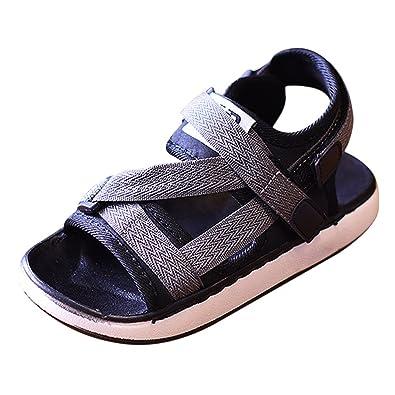 e1f577f418d906 MNBS Unisex Kids Boys Girls Flip Flops Sandals Shower Pool Beach Summer  Shoes Sport Grey-