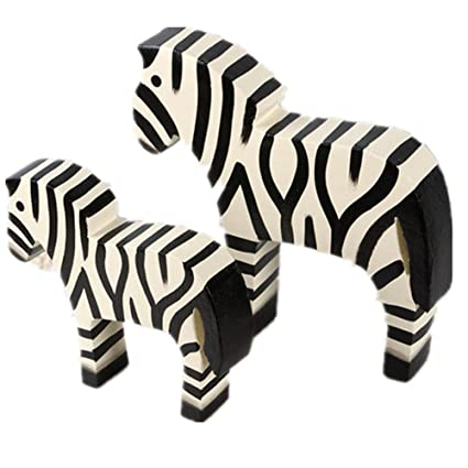 Gyn Painted Zebra Wood Handicrafts For Home Bar Coffee Decoration