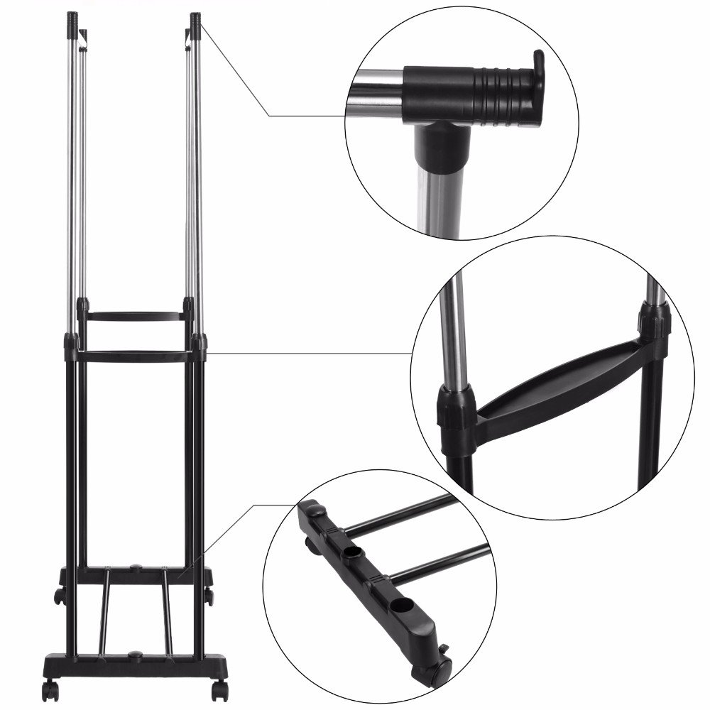 Amazon Clothes Rack Shoes Double Portable Durable Organizer Display Extendable Width Hanging Garment Coat Adjustable Height Kitchen