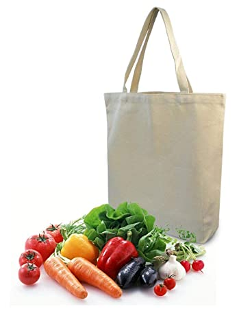 Amazon Com Eco Friendly Kitchen Reusable Grocery Bags Natural