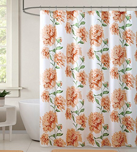 Hudson Essex Macy Floral Fabric Shower Curtain, Beautiful Floral Print, Perfect To Enhance Your Bathroom Decor, Adds Personality And Brightens Up Any Existing Decor, 72x72 Inches - Macys Gardens Victoria
