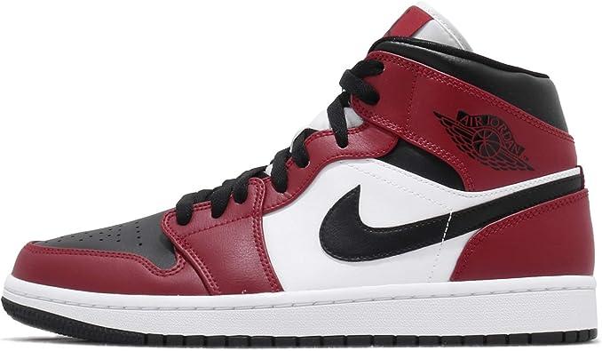 Nike Air Jordan 1 Mid Men's Shoes White/White 554724-100