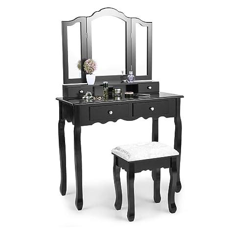 quality design 6739d 8e58c Amazon.com: Sandinrayli Tri Folding Mirror Vanity Makeup ...