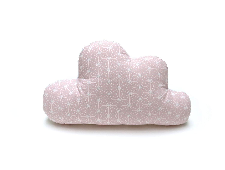 alle Materialien OEKO-TEX/® Standard 100 zertifiziert handgefertigt in Hamburg Happy Star Rosa Blausberg Baby Schmusewolke Kissen in Wolken-Form mit Frottee-Seite Dekokissen