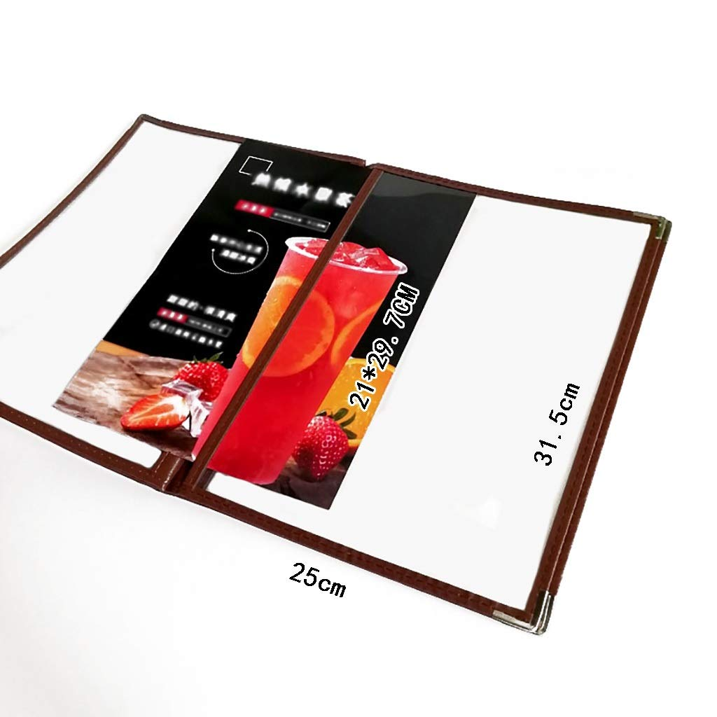 QSJY File Cabinets A4 Display Book Presentation Project Folder Perfect for Presentations Filing Storage Interviews 8 Pages 16 Sides