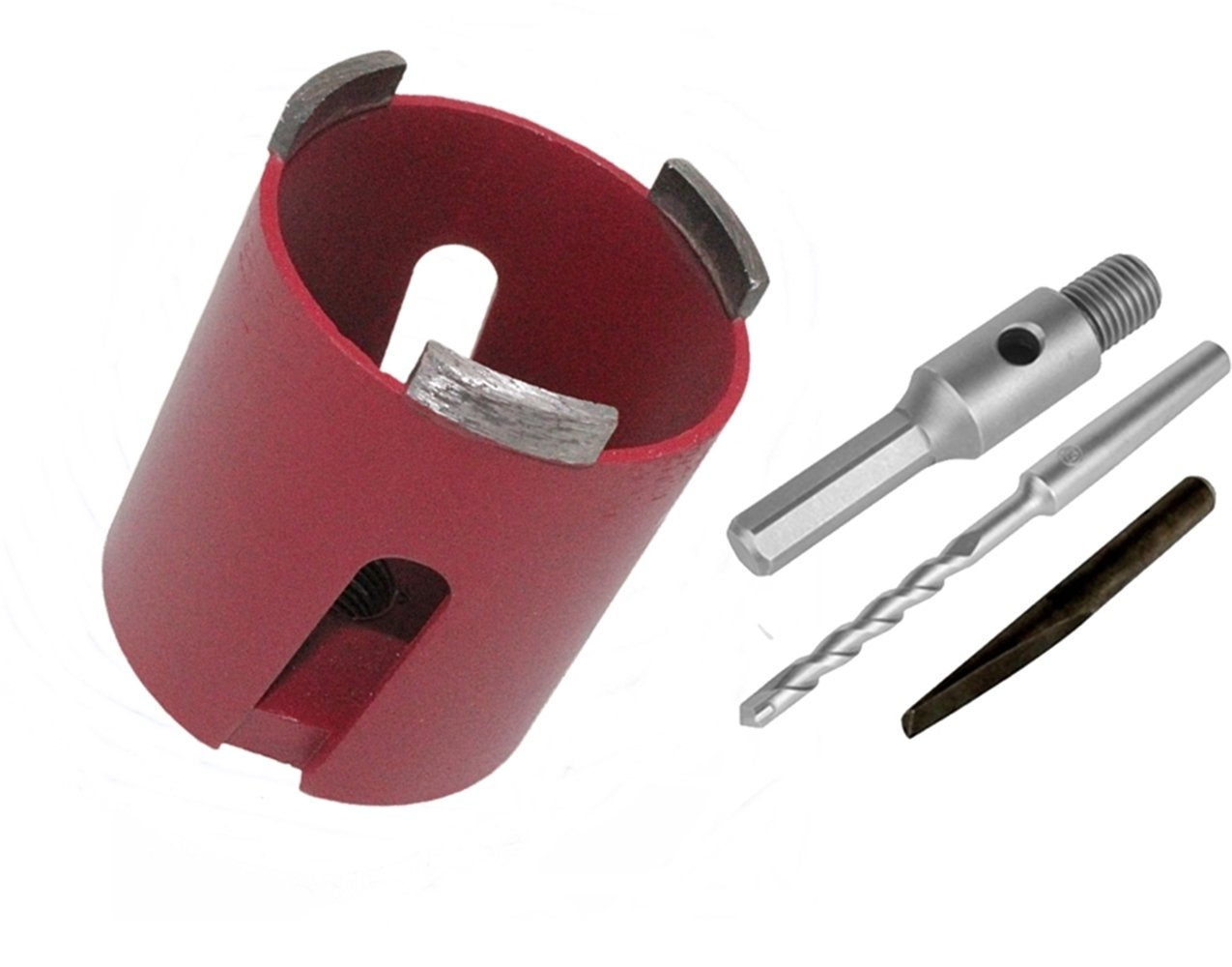 Diamant Dosensenker 68 / 82 mm Bohrkrone M16 SDS Aufnahme Sechskantaufnahme (Dosensenker 68 mm inkl. Sechskant Aufnahme) expotools