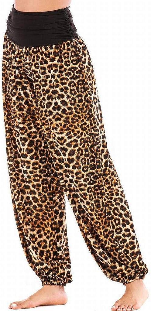 DFBB Women Fashion Sports Casual Leopard Print High Waisted Yoga Jogger Pants Lounge Pants Trousers