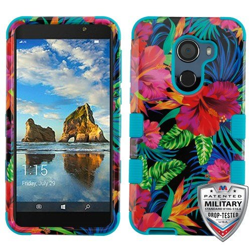 ShopAegis - [HYBRID DESIGN] [Pink] Fresh Roses Garden Lines Military Grade Cover Phone Case For Alcatel [Walters][A30 Plus][T-Mobile Revvl][Fierce 2017] (Walters Gardens)