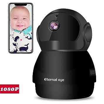 1080P HD WiFi IP Cámara Casa Vigilancia Cámara de Seguridad con P2P Visión Nocturna Detección de