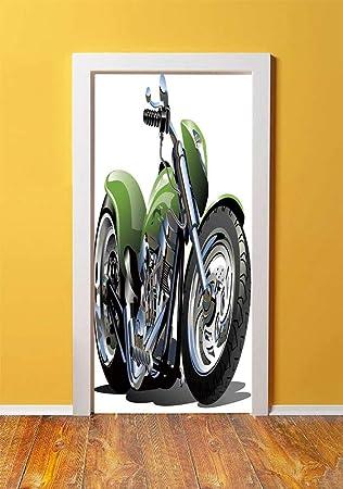 Amazoncom Motorcycle 3d Door Sticker Wall Decals Mural