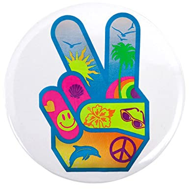 Amazon 35 Inch Button Peace Sign Symbol Dolphin Smiley Face