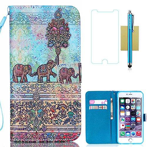 iPhone 6S Case,iPhone 6 Case,iPhone 6S Wallet Case,CASELAND PU Leather Flip Wallet Case for Apple iPhone 6S,Case for iPhone 6 [4.7] [Elephant]