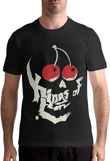 Kings of Leon Mens T-Shirt Fashion Short Sleeve Tee Black