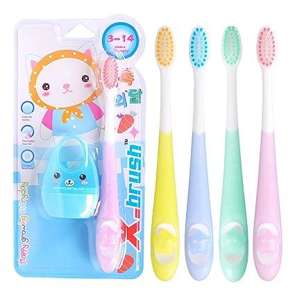 A0127 - Cepillo de dientes infantil con diseño de dibujos animados ...