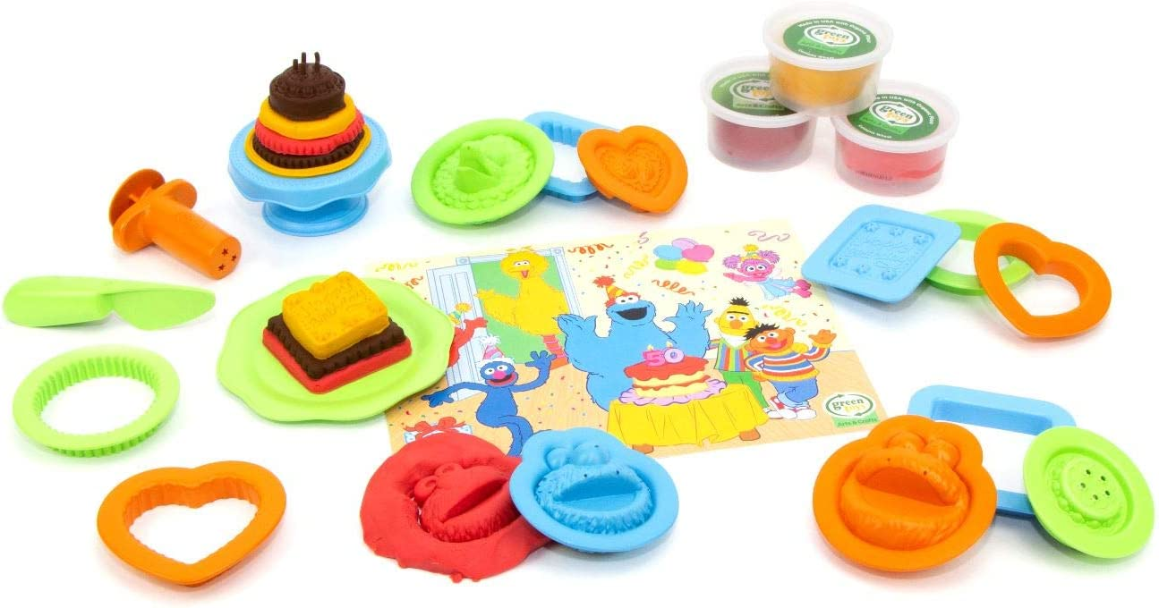 Green Toys Sesame Street 50th Anniversary Party Set, Assorted