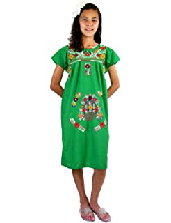 a6860cd11 Amazon.com  Mexican Clothing Co Girls Mexican Dress Traditional ...