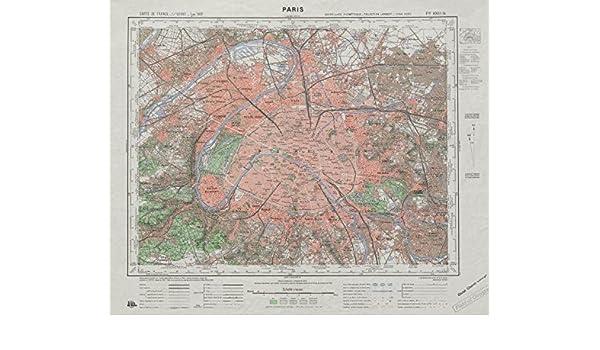 plan carte de france Amazon.com: Vintage PARIS town city plan. Carte de France Type