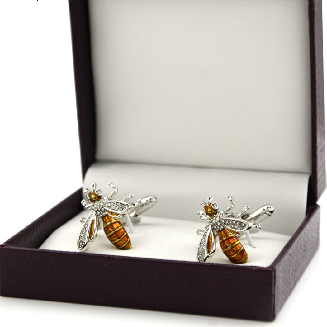 Wasp Image Rhodium Plated Tie Clip in Gift Box