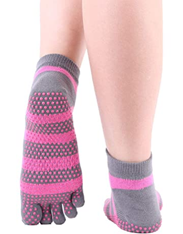 Wenquan,3 pares de calcetines de yoga, calcetines de dedo