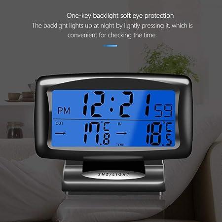 MEROURII Auto Thermometer Temperatur Armaturenbrett Uhr,Digitaluhr Fahrzeug Thermometer Anzeige LED-Uhren mit Hintergrundbeleuchtung Auto-Temperaturanzeige