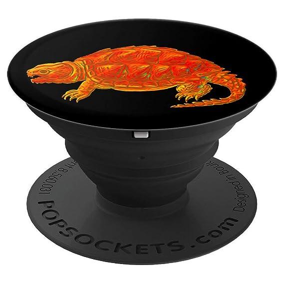Amazon com: Snapping Turtle: Fiery Batik-Style - Black Background