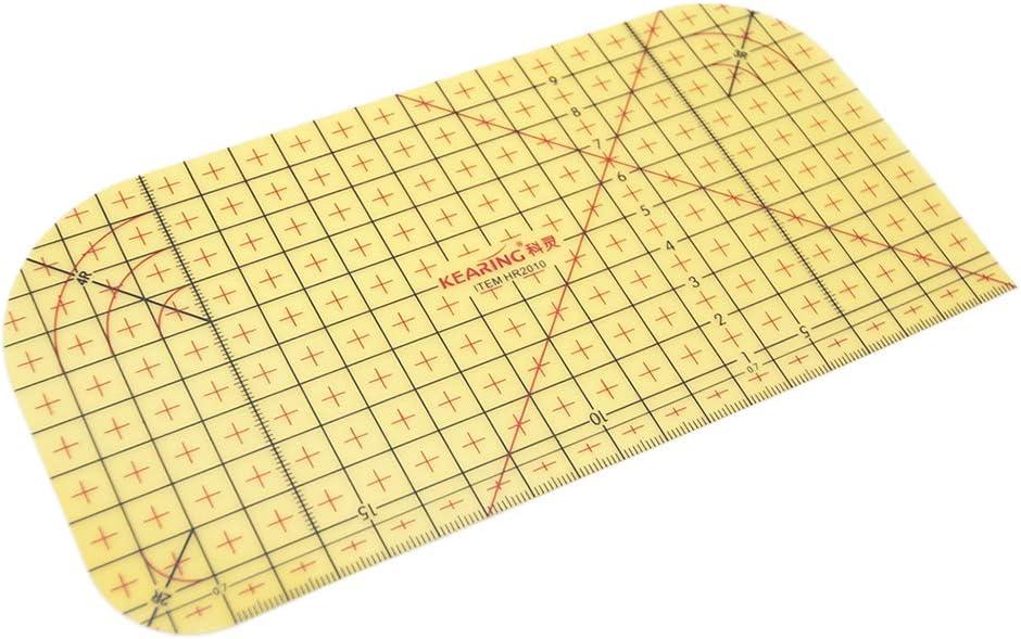 F Fityle Hot Lineal Dr/ücken Hot Hemmer B/ügellineale universal Lineal Hei/ßs/äumer 20 cm x10 cm