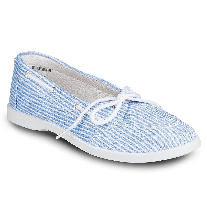 2b04679ed0498 cheap Twisted Women's Bonnie Nautical Stripe Canvas Boat Shoe ...